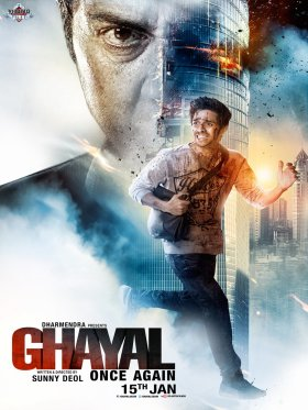 Poster Of Ghayal Once Again 2016 Hindi DVDScr Rip New Source Full Movie