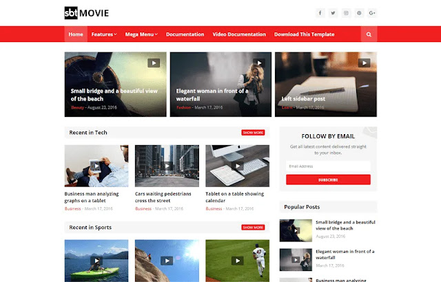 SBT Movie Blogger Template Download