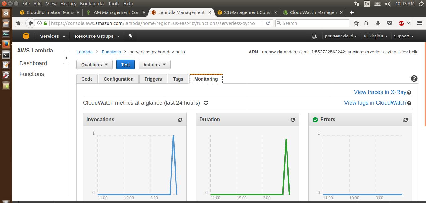 Big Data and Cloud Tips: AWS Lambda with Serverless framework