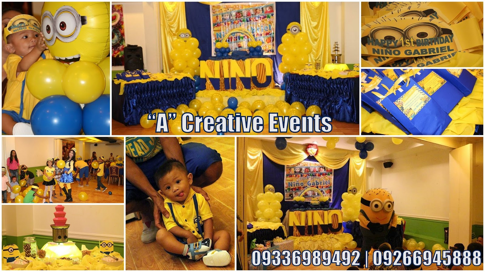 Nio Gabriels 1st Birthday Party Athena Miels Balloons Bubbles