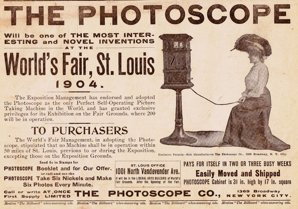 The Photoscope, a Photobooth Sans Booth From 1904