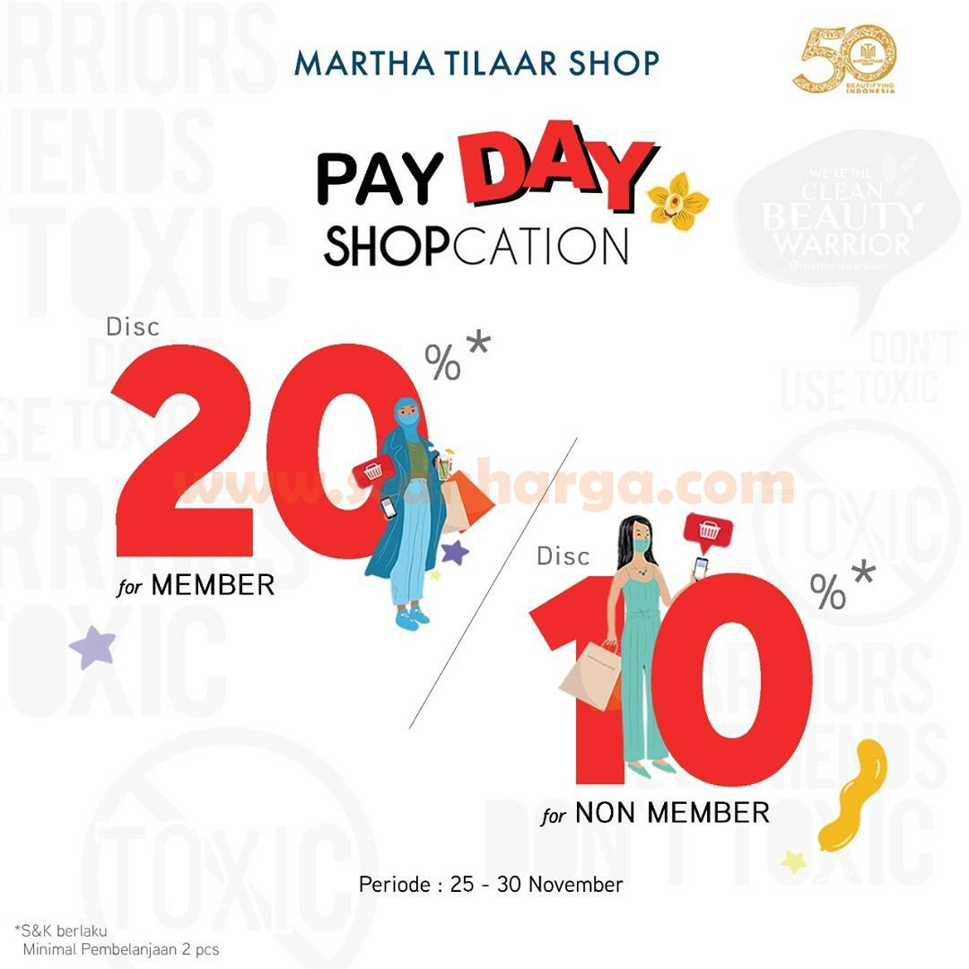 Marta Tilaar Shop Promo Payday Diskon 20% for member & 10% non member
