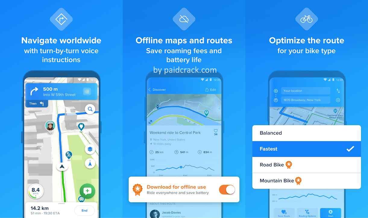 Bikemap - Your Cycling Map Premium Mod Apk 13.1.0