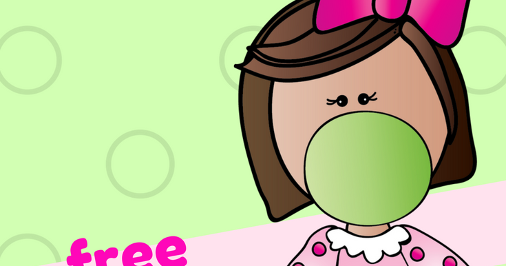 Classroom Freebies: FREE Bubble Gum Kids Clipart - Make ...