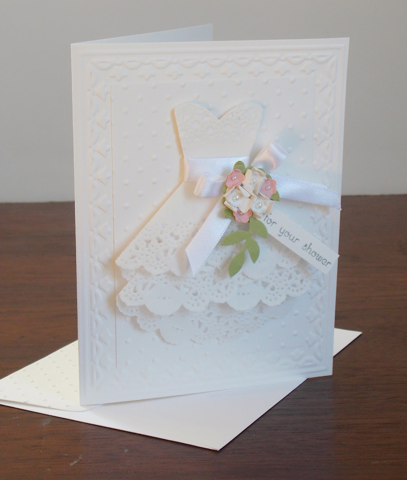 laura's works of heart teeny tiny wishes bridal shower card