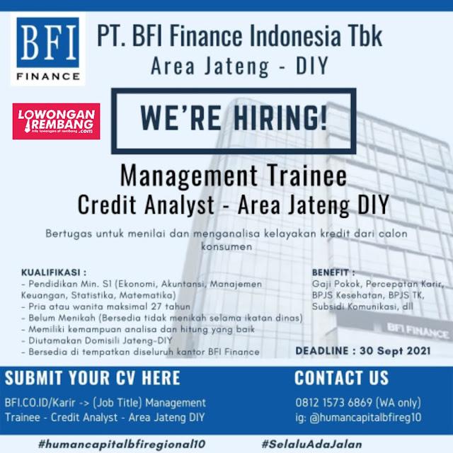2 Lowongan Kerja PT BFI Finance Indonesia Area Jateng-DIY
