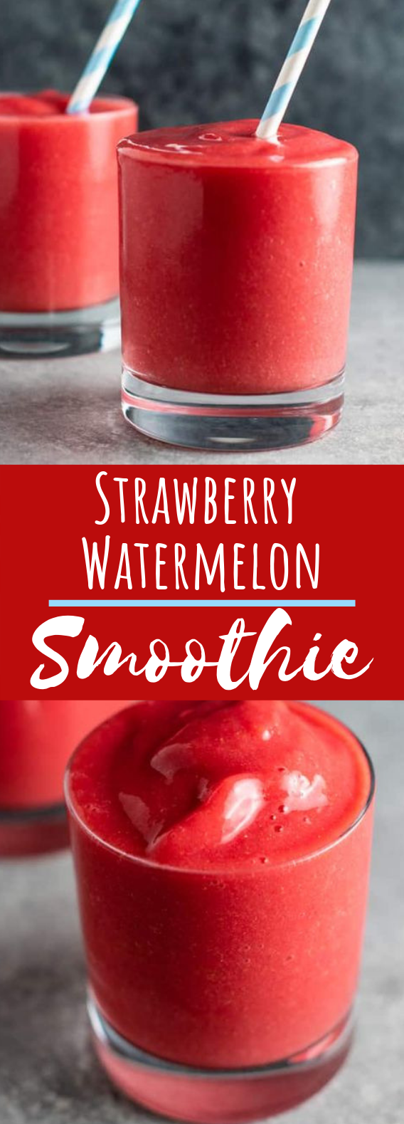 STRAWBERRY WATERMELON SMOOTHIE #drinks #healthy