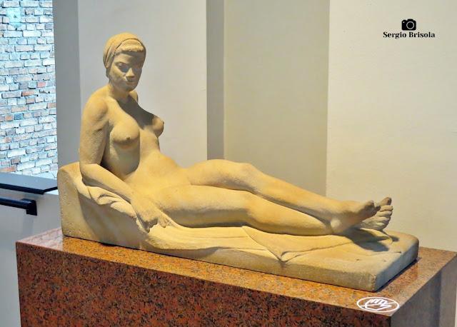 Close-up da Escultura Serenidade - Pinacoteca de São Paulo - Luz - São Paulo