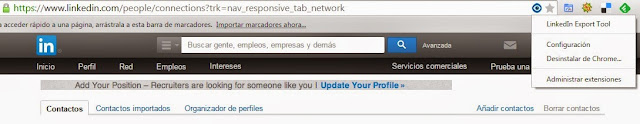 Exportar contactos LinkedIn