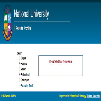 National University Result NU BD Result in Bangladesh
