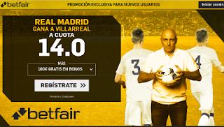 betfair supercuota Real Madrid gana a Villarreal 13 enero