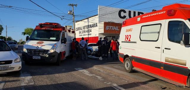 Músico morre vitima de acidente de trânsito no Centro de Mossoró, RN