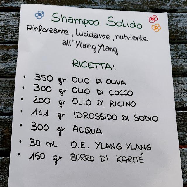 La ricetta dello shampoo solido karité e ylang ylang