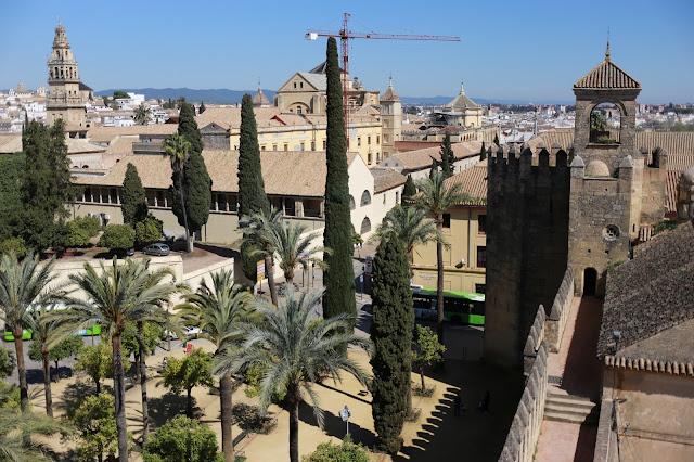 Vistas desde la muralla del Alcázar de los Reyes Cristianos