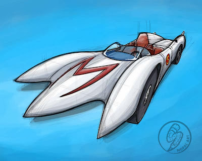 NOPAL Art: Speed Racer Mach 5 sketch