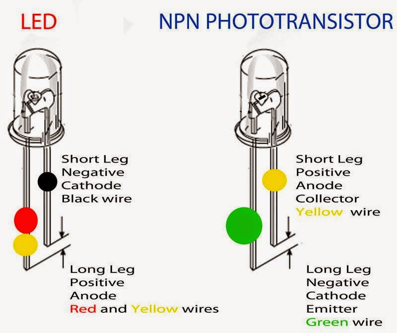 Electrical Engineering World  Diffeence Between Led And Npn Phototransistor