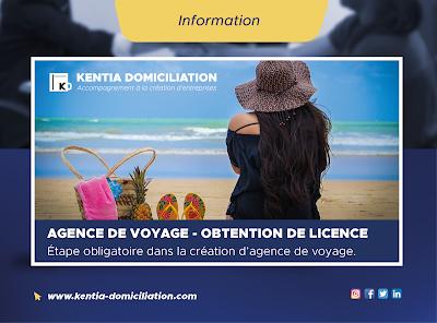 Demande de licence pour l'ouverture d'une agence de voyage
