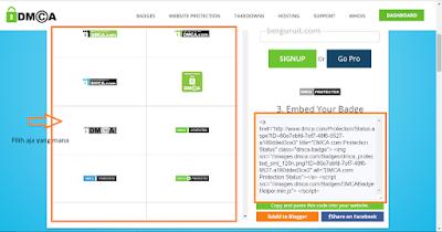 Pilih banner DMCA Protection