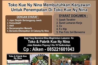 Lowongan Kerja Pabrik Kue Ny. Nina