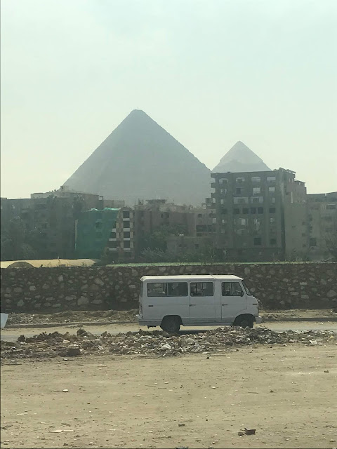 Sightseeing dilapidated city of cairo