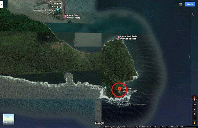 Denah lokasi Mercusuar Cimiring - Google Maps