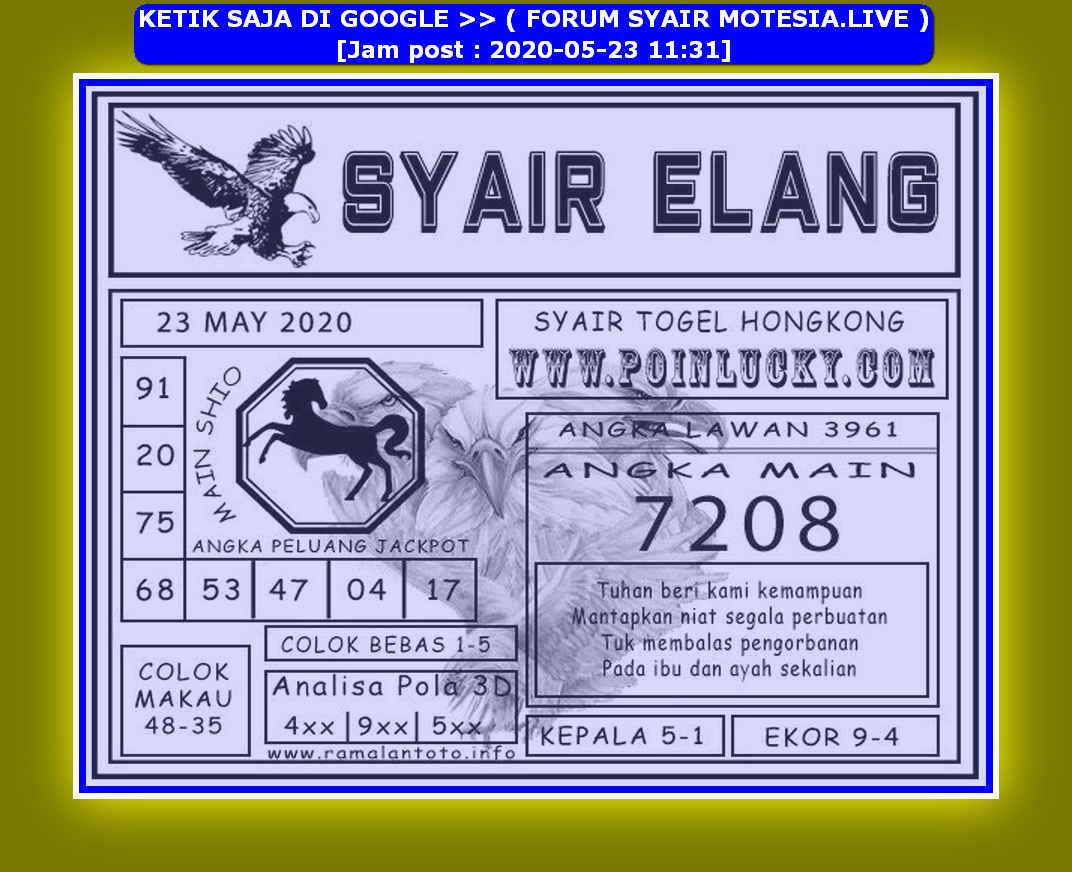 Kode syair Hongkong Sabtu 23 Mei 2020 183