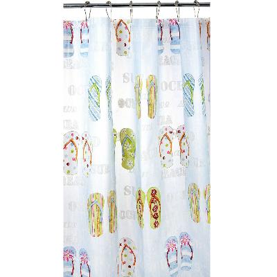 Superb Flip Flop Home Decor Idea Flip Flop Shower Curtain