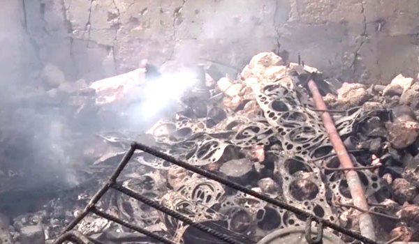 Fire Outbreak in Obosi, Anambra State... See photos