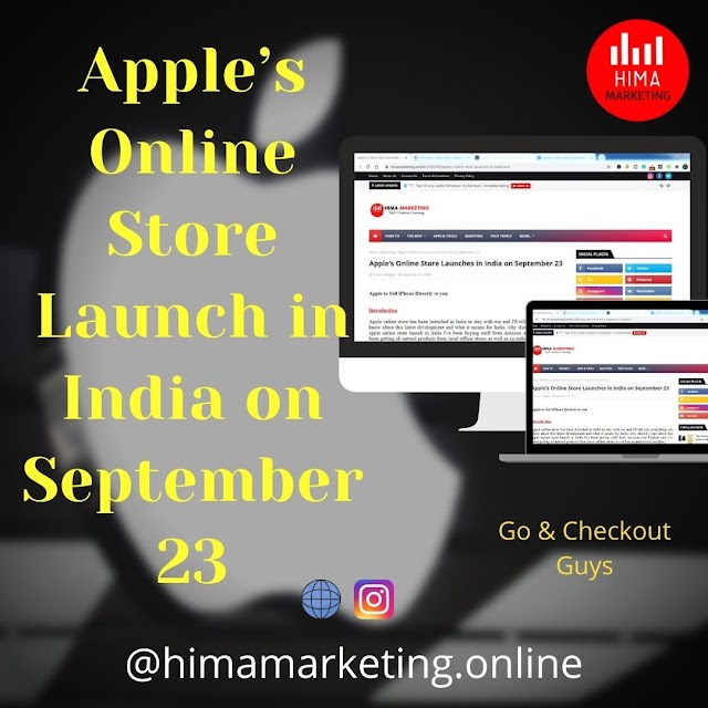 Apple's Online Store Launches in India on September 23