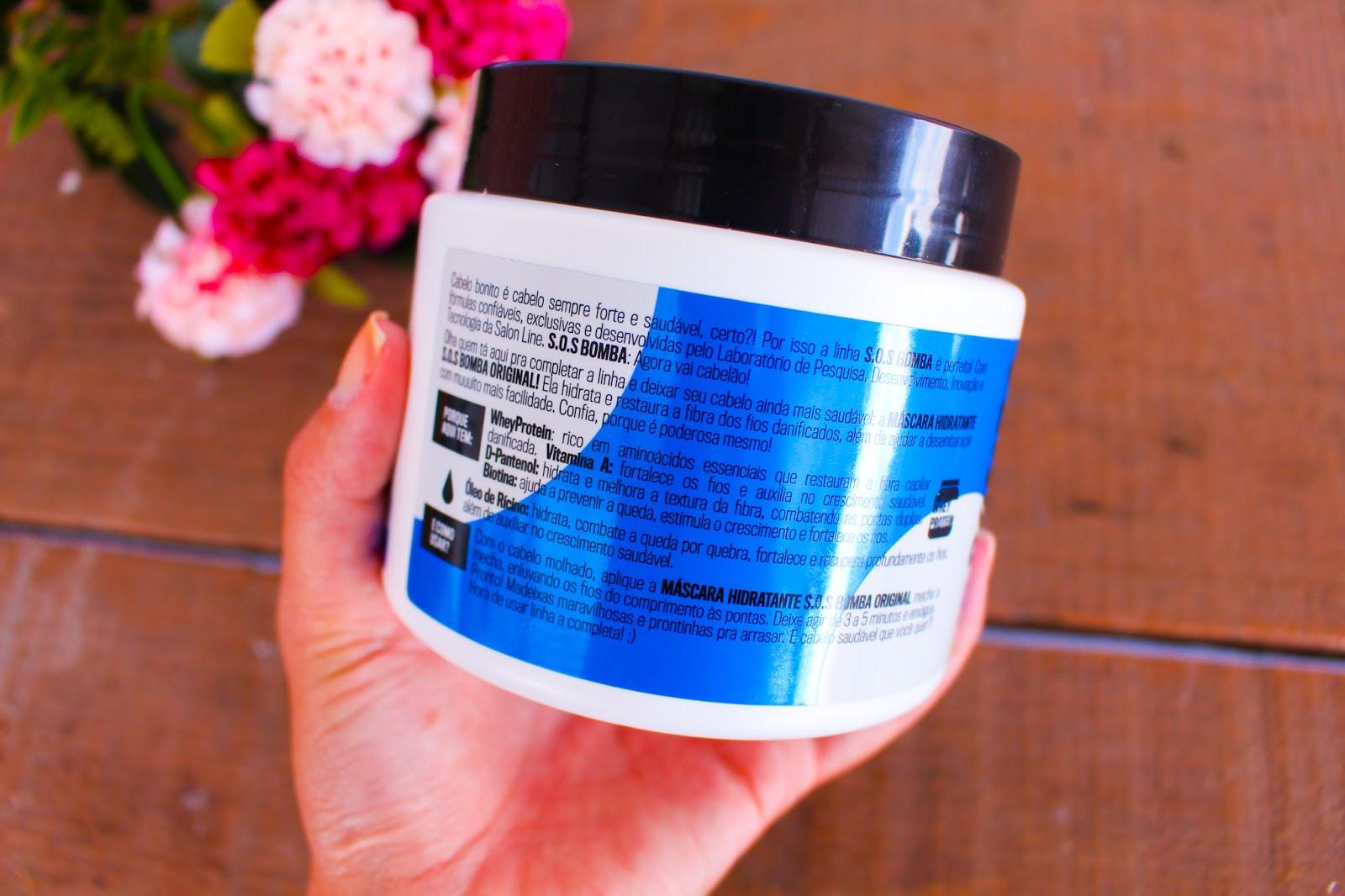 Resenha: Máscara Hidratante SOS Bomba Original da Salon Line