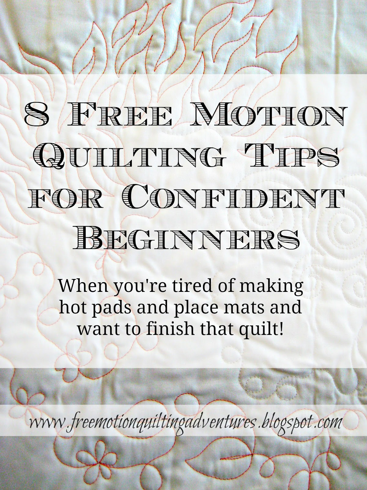 tips for better looking machine quilting