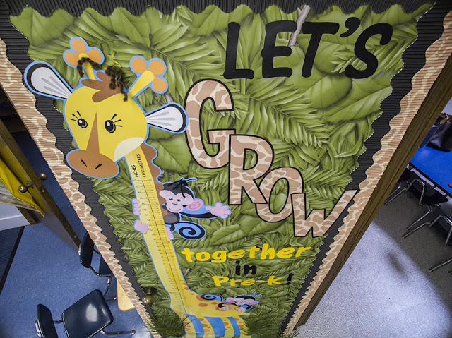 Let's GROW together in Pre-K!  Adorable jungle, zoo animal classroom theme & decor!