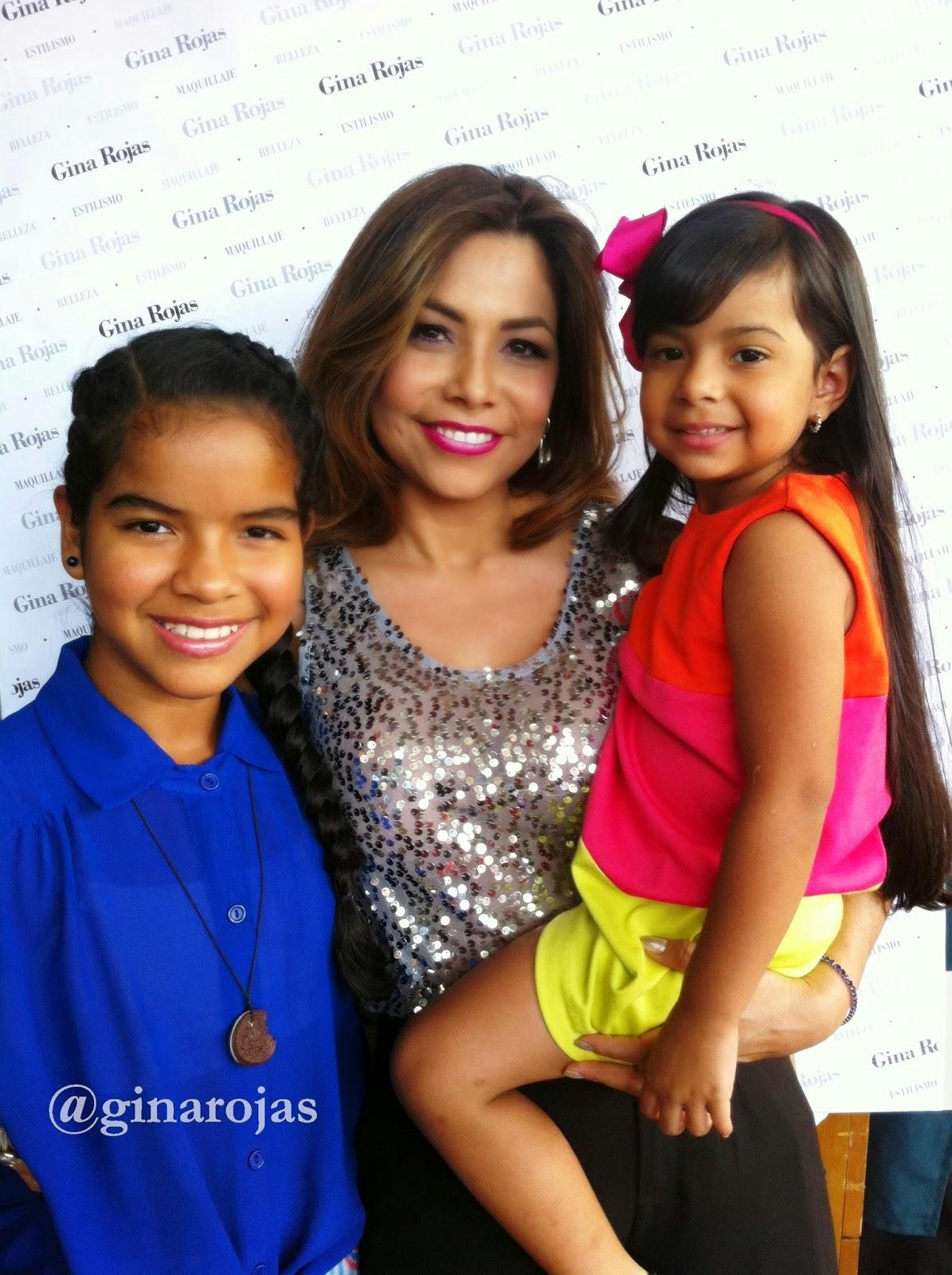Gina Rojas y sus sobrinas
