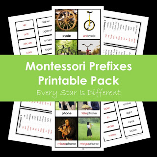 Montessori Prefixes Printable Pack