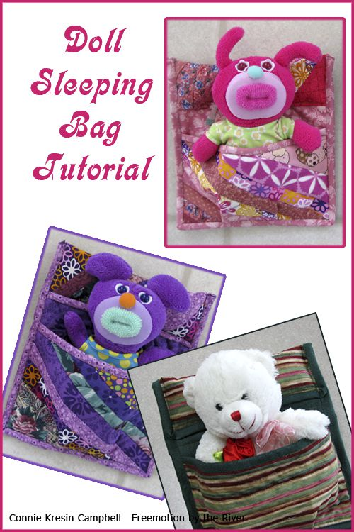 Easy Doll or Stuff Animal Sleeping Bag Tutorial