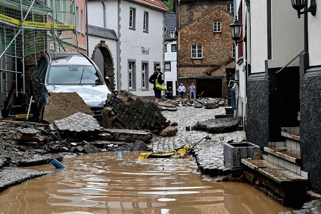Horrendous floods in Germany and Netherlands