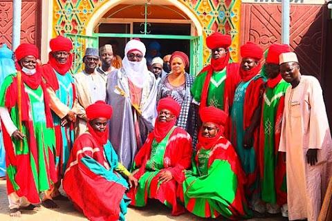 Just In: President Buhari's Emir & Kinsmen Turban Okorocha - Politics
