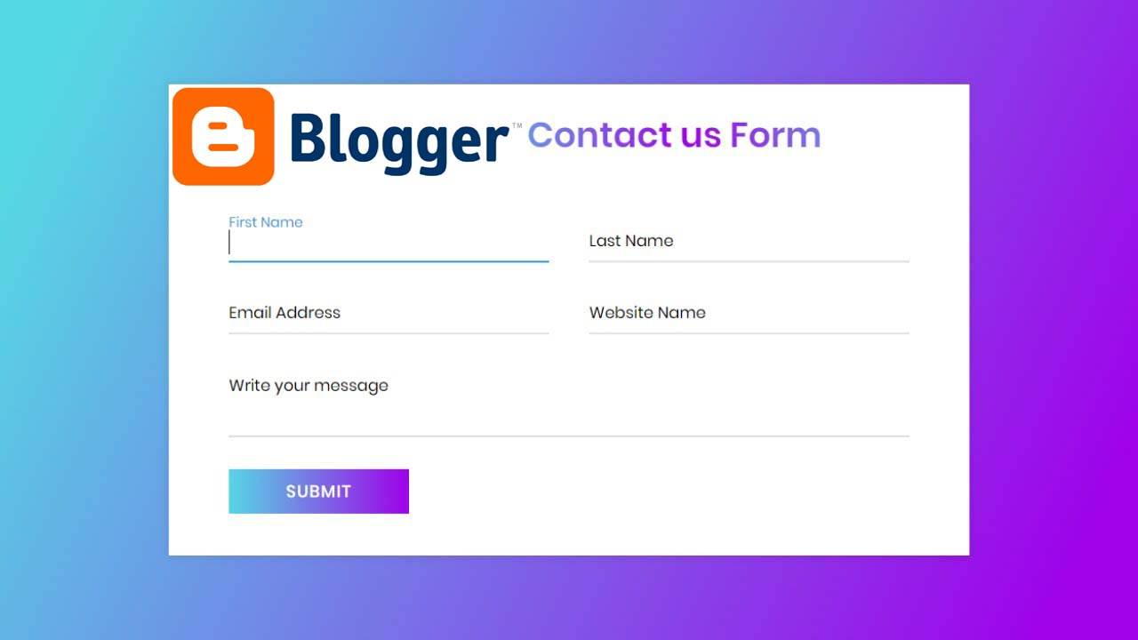 Blogger Contact us form