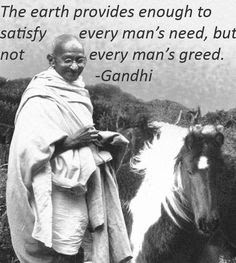 Greed is the cause of violence, crime and killings tearing our society apart today.