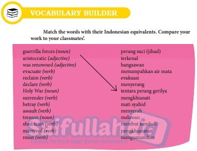 Kunci Jawaban Bahasa Inggris Chapter 11 Halaman 144 Vocabulary Builder Kelas 10 Saifullah Id