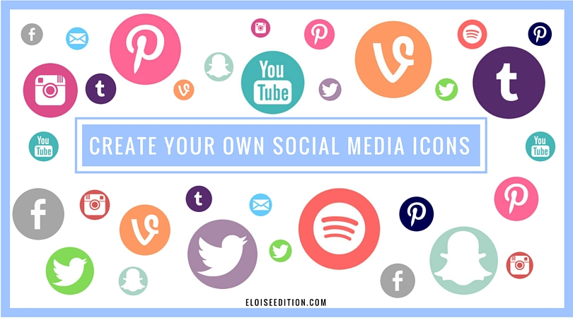 How To Create a Custom Social Media Icon // Eloise Edition