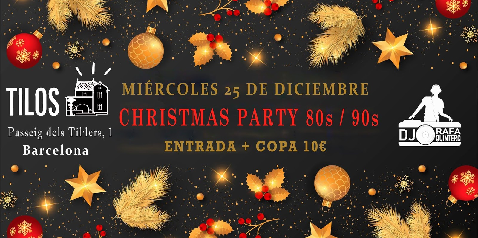 Flyer Christmas Party 80s / 90s