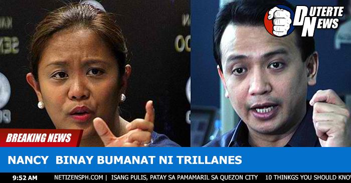 Nancy Binay Inupakan Ng Matinding Salita si Trillanes Sa Pag-akusa na Corrupt Daw Si VP Binay
