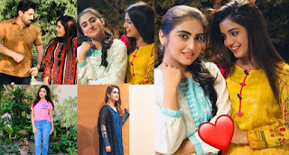 Beautiful Pictures of Hiba Bukhari and Laiba Khan from Set of Drama Tarap