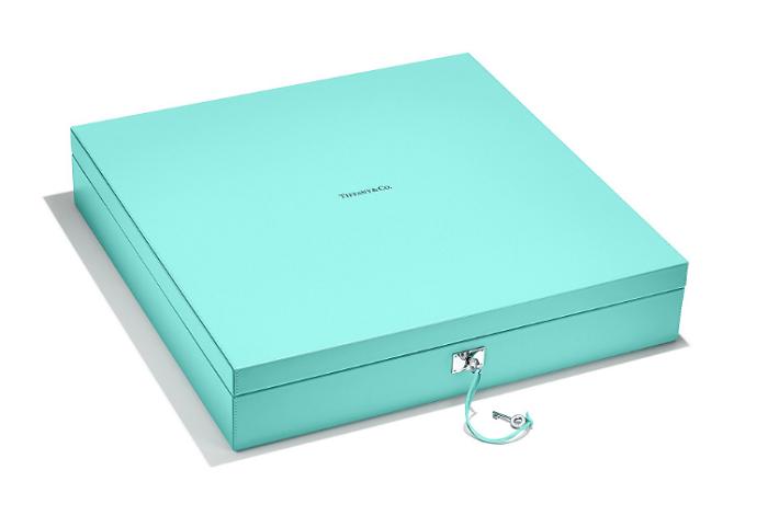 Tiffany & Co Mahjong Set Tiffany Blue Leather Box