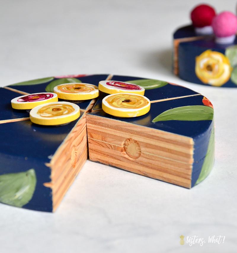 easy DIY wood cake