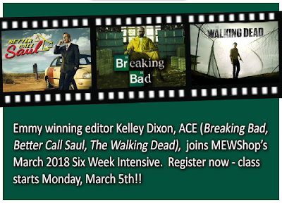 """Breaking Bad"" Editor Kelley Dixon, ACE Joins Our March 2018 Workshop"