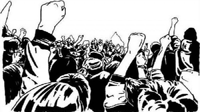 जन आंदोलनांची संघर्ष समितीच्या वतीने महाराष्ट्र विधानसभेवर आंदोलन