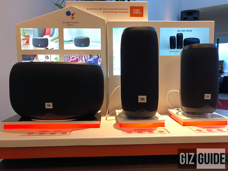 (From left to right) JBL LINK 300, LINK 20, and LINK 10