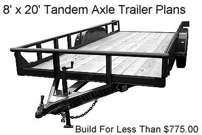 8x20 Tandem,Flatbed,Utility Trailer Plans,Build 4 $775 | eBay | wwwnwoutdoors